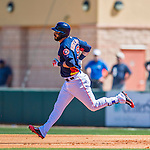 4 March 2016: Houston Astros infielder Marwin Gonzalez rounds the bases after hitting a solo home run during a Spring Training pre-season game against the St. Louis Cardinals at Osceola County Stadium in Kissimmee, Florida. The Astros defeated the Cardinals 6-3 in Grapefruit League play. Mandatory Credit: Ed Wolfstein Photo *** RAW (NEF) Image File Available ***