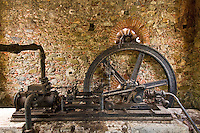 The steam engine at the Reef Bay sugar plantation. Virgin Islands National Park. St. John, U.S. Virgin Islands