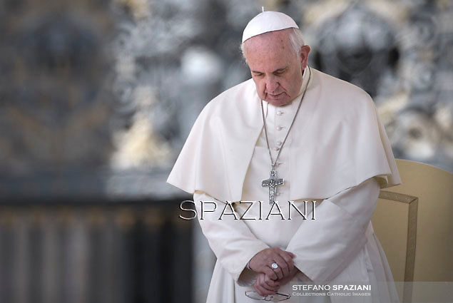 Pope Francis during his weekly general audience in St. Peter square at the Vatican, Wednesday. September 17, 2014.