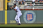 29 September 2012: Minnesota Twins infielder Pedro Florimon in action against the Detroit Tigers at Target Field in Minneapolis, MN. The Tigers defeated the Twins 6-4 in the second game of their 3-game series. Mandatory Credit: Ed Wolfstein Photo