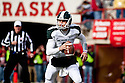 29 October 2011: Kirk Cousins #8 of the Michigan State Spartans rolls out to pass against the Nebraska Cornhuskers in the first quarter at Memorial Stadium in Lincoln, Nebraska.  Nebraska defeated Michigan State 24 to 3.