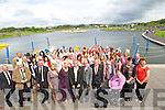 The Roses on a visit to Tralee Bay Wetlands during the Rose of Tralee Festival on Friday pictured with Staff and Members of the Tralee Town Council.