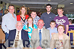 BIRTHDAY FUN: Micheal Houlihan, Abbeyfeale enjoying great fun celebrating his 75th birthday with family and friends at the Friends of KGH Benefit meeting at the Kingdom Greyhound Stadium on Friday seated l-r: Declan Ryan, Michael Houlihan and Margaret Houlihan. Back l-r: Sean, Angela, Aili?se and Ciara?n Ryan, David Houlihan, Lorcan Ryan and Michael Ryan.