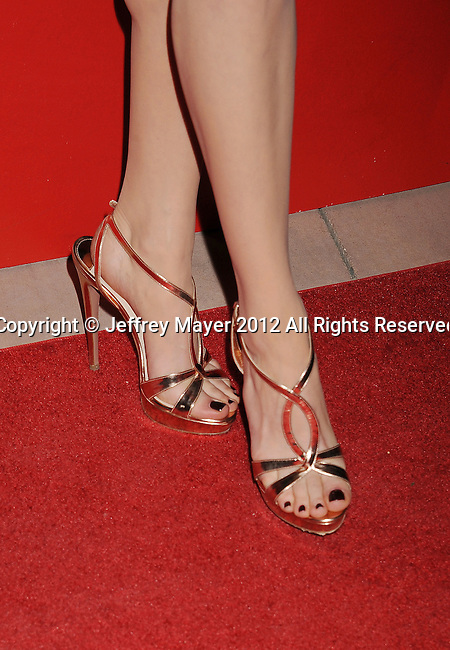 PALM SPRINGS, CA - JANUARY 07: Michelle Williams (shoe detail) at the 2012 Palm Springs Film Festival Awards Gala at the Palm Springs Convention Center on January 7, 2012 in Palm Springs, California.