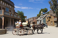 Spain, Andalusia, Province Almería, Costa de Almería, near Tabernas: Film set, used as location for the Western film Once Upon a time in the West | Spanien, Andalusien, Provinz Almería, Costa de Almería, bei Tabernas: Drehort fuer den Western 'Spiel mir das Lied vom Tod'