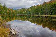 Mud Pond in Easton, New Hampshire USA during the autumn months.