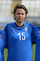 20180302 - LARNACA , CYPRUS : Italian Valentina Giacinti pictured during a women's soccer game between Italy and Wales , on friday 2 March 2018 at GSZ Stadium in Larnaca , Cyprus . This is the second game in group A for Italy and Wales during the Cyprus Womens Cup , a prestigious women soccer tournament as a preparation on the World Cup 2019 qualification duels. PHOTO SPORTPIX.BE | DAVID CATRY