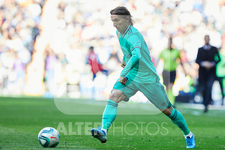 Luka Modric of Real Madrid during La Liga match between Real Madrid and RCD Espanyol at Santiago Bernabeu Stadium in Madrid, Spain. December 07, 2019. (ALTERPHOTOS/A. Perez Meca)