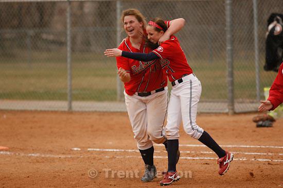 Trent Nelson     The Salt Lake Tribune.Springville - Springville vs. Bingham high school softball Thursday, March 18, 2010. Nikki Brailsford hits the game-winning home run in the 7th inning. Kinsley Foster (1)