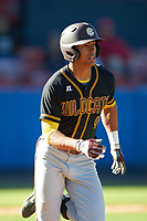 Bethune-Cookman Wildcats center fielder Josten Heron (44) during a game against the Wisconsin-Milwaukee Panthers on February 26, 2016 at Chain of Lakes Stadium in Winter Haven, Florida.  Wisconsin-Milwaukee defeated Bethune-Cookman 11-0.  (Mike Janes/Four Seam Images)