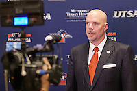 SAN ANTONIO, TX - APRIL 8, 2016: The introduction of new University of Texas at San Antonio Roadrunners Head Basketball Coach Steve Henson at the H-E-B University Center, Harris Room. (Photo by Jeff Huehn)
