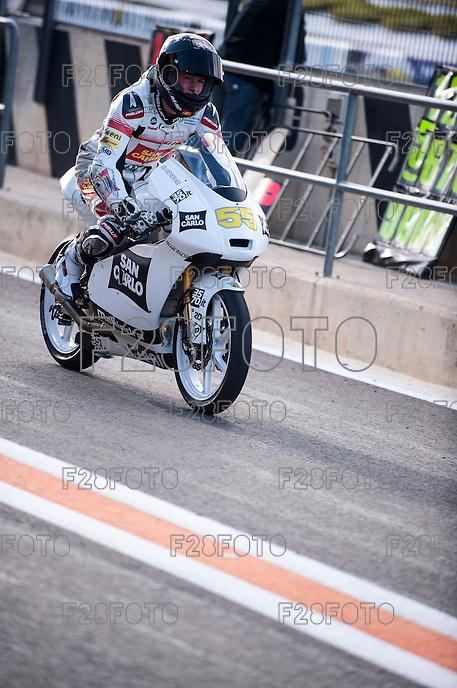 Andrea Locatelli in pit line at pre season winter test IRTA Moto3 & Moto2 at Ricardo Tormo circuit in Valencia (Spain), 11-12-13 February 2014