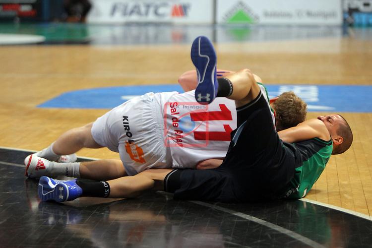 League ACB-Endesa 2015-2016. Game: 16.<br /> FIATC Joventut vs Laboral Kutxa Baskonia: 68-89.<br /> Blazic vs Albert Sabat.