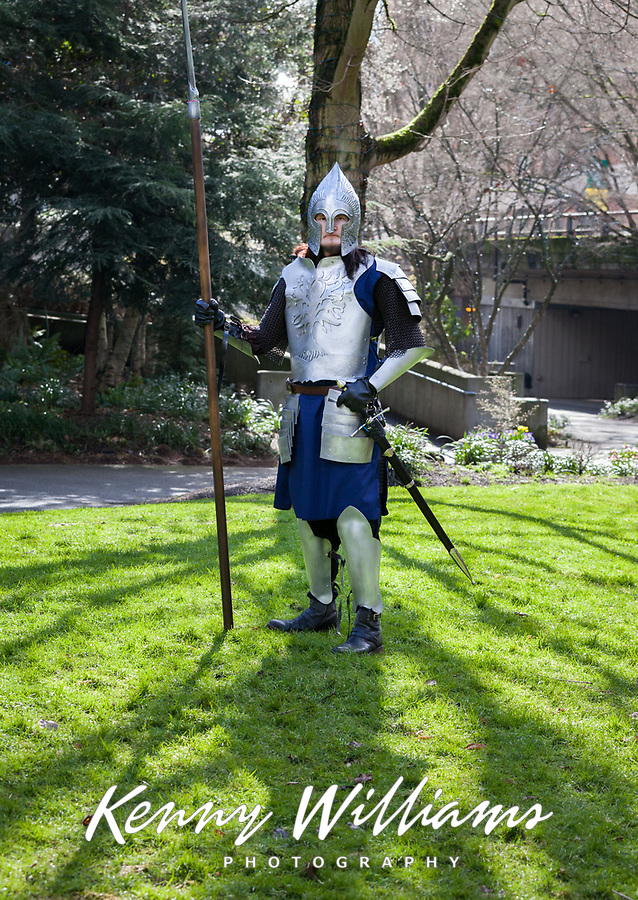 Gondor Soldier Cosplay, Emerald City Comicon 2018, Seattle, Washington, USA.