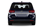 Straight rear view of 2019 KIA Sedona EX 5 Door Minivan Rear View  stock images