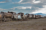 Rusted old trains, Altiplano, Bolivia