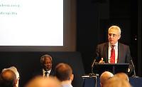 Picture by Simon Wilkinson/SWpix.com 14/09/2012 -  Global Commission on Elections Democracy and Security - Portland Communications.copyright picture..simon wilkinson..simon@swpix.com..Kofi Annan -  Ernesto Zedillo Ponce de Leon - Dr Hassan Wirajuda at The Royal Society London.