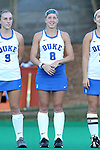 16 October 2015: Duke's Stephanie Pezzuti. The University of North Carolina Tar Heels hosted the Duke University Blue Devils at Francis E. Henry Stadium in Chapel Hill, North Carolina in a 2015 NCAA Division I Field Hockey match. UNC won the game 2-1.