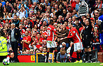 Marcus Rashford of Manchester United is replaced by Wayne Rooney during the Premier League match at Old Trafford Stadium, Manchester. Picture date: September 24th, 2016. Pic Sportimage
