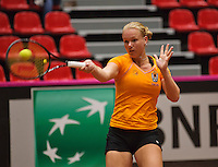 The Netherlands, Den Bosch, 16.04.2014. Fed Cup Netherlands-Japan, Practice, Kiki Bertens (NED)<br /> Photo:Tennisimages/Henk Koster