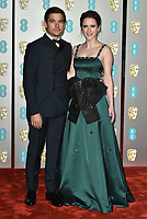 Jason Ralph and Rachel Brosnahan<br /> The EE British Academy Film Awards 2019 held at The Royal Albert Hall, London, England, UK on February 10, 2019.<br /> CAP/PL<br /> ©Phil Loftus/Capital Pictures