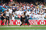 Fiji vs England during the HSBC Sevens Wold Series Cup Quarter Finals match as part of the Cathay Pacific / HSBC Hong Kong Sevens at the Hong Kong Stadium on 29 March 2015 in Hong Kong, China. Photo by Manuel Bruque / Power Sport Images