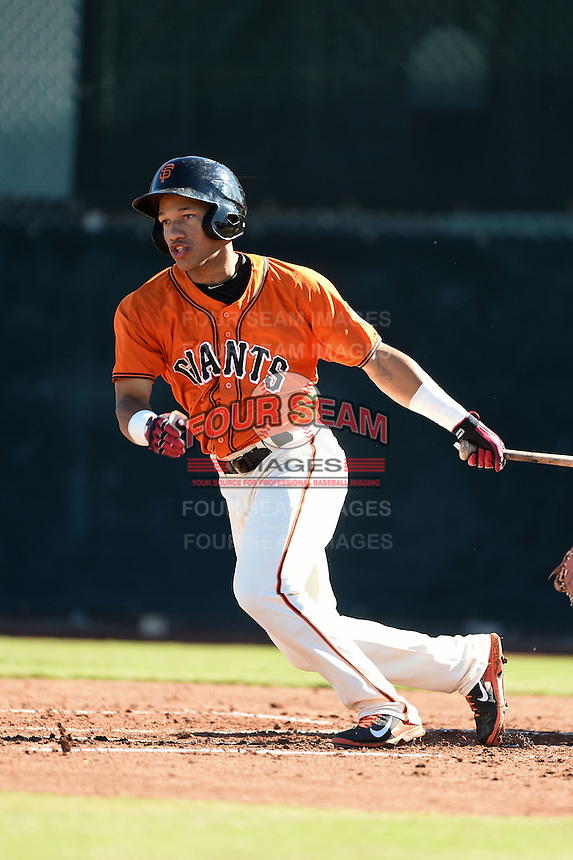 San Francisco Giants outfielder Randy Ortiz (34) during an Instructional League game against the SK Wyverns on October 14, 2014 at Giants Baseball Complex in Scottsdale, Arizona.  (Mike Janes/Four Seam Images)