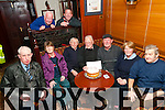 90th Birthday: Tom O'Sullivan, Ballylongford celebrating his 90th birthday with his card playing friends at Kennelly's Bar, Ballylongford on Wednesday 11th february last. Front : Joe Degan, Margaret Rice, Pat Scanlon, Tom O'Sullivan, Sean O'Neill, Mary Vallaly & Tom Stack. Back :Alan & Tim Kennelly.