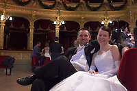 0802020455a Dress rehearsal of the 13th Budapest Opera Ball held at Opera House involving 50 couples of debutantes performing the opening waltz. Budapest, Hungary. Saturday, 02. February 2008. ATTILA VOLGYI
