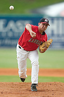 Kannapolis starting pitcher Derek Rodriguez delivers the ball to the plate versus Greenville at Fieldcrest Cannon Stadium in Kannapolis, NC, Sunday, June 4, 2006.  Greenville defeated Kannapolis 7-6.