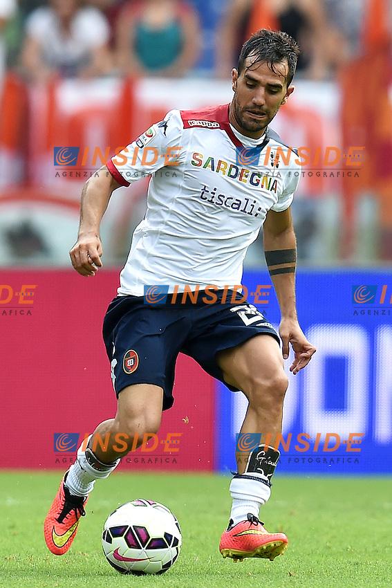 Marco Sau Cagliari <br /> Roma 21-09-2014 Stadio Olimpico, Football Calcio Serie A AS Roma - Cagliari. Foto Andrea Staccioli / Insidefoto