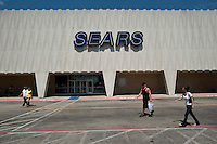 People pass the entrance and parking lot to Sears at Valley View Center Mall in Dallas, Texas, Saturday, August 21, 2010. ..MATT NAGER for the Wall Street Journal