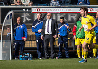 Accrington Stanley Manager John Coleman during the Sky Bet League 2 match between Wycombe Wanderers and Accrington Stanley at Adams Park, High Wycombe, England on the 30th April 2016. Photo by Liam McAvoy / PRiME Media Images.