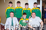 The Kerry Pitch and Putt team that was honoured at the Kerry Sports awards show in the Gleneagle Hotel on Friday night front row l-r: Kevin  McCarron,  Cilian Courtney Jason O'Connor. Back row: Ryan Neeson, Robbie Harnett, Bobby McCarron, Jake Shine