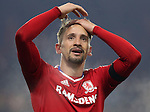 Gaston Ramirez of Middlesbrough celebrating after scoring his teams first goal of the game during the English Premier League match at Riverside Stadium, Middlesbrough. Picture date: December 5th, 2016. Pic Jamie Tyerman/Sportimage