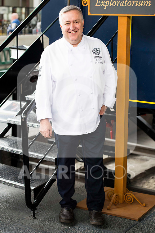 Chef Jose Luis Martinez during the presentation of Exploratorium of San Miguel Selecta at Museo del Ferrocarril in Madrid. March 22, 2017. (ALTERPHOTOS/Borja B.Hojas)