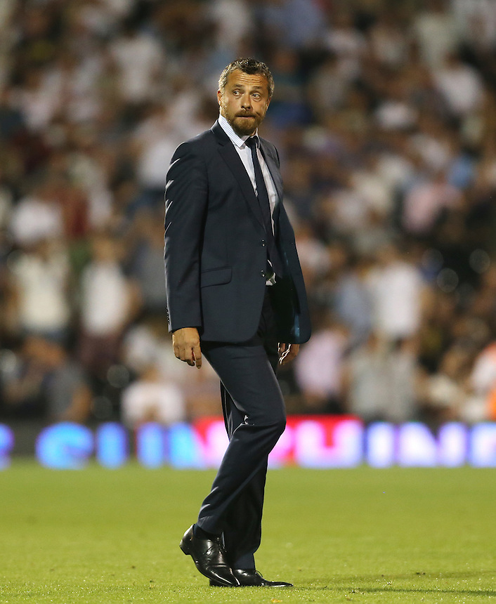 Fulham manager Slavisa Jokanovic <br /> <br /> Photographer Rob Newell/CameraSport<br /> <br /> The EFL Sky Bet Championship - Fulham v Burton Albion - Tuesday 13th September 2016 - Craven Cottage - London<br /> <br /> World Copyright &copy; 2016 CameraSport. All rights reserved. 43 Linden Ave. Countesthorpe. Leicester. England. LE8 5PG - Tel: +44 (0) 116 277 4147 - admin@camerasport.com - www.camerasport.com