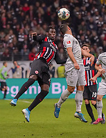 Kevin Volland (Bayer Leverkusen) gegen Danny da Costa (Eintracht Frankfurt) - 18.10.2019: Eintracht Frankfurt vs. Bayer 04 Leverkusen, Commerzbank Arena, <br /> DISCLAIMER: DFL regulations prohibit any use of photographs as image sequences and/or quasi-video.