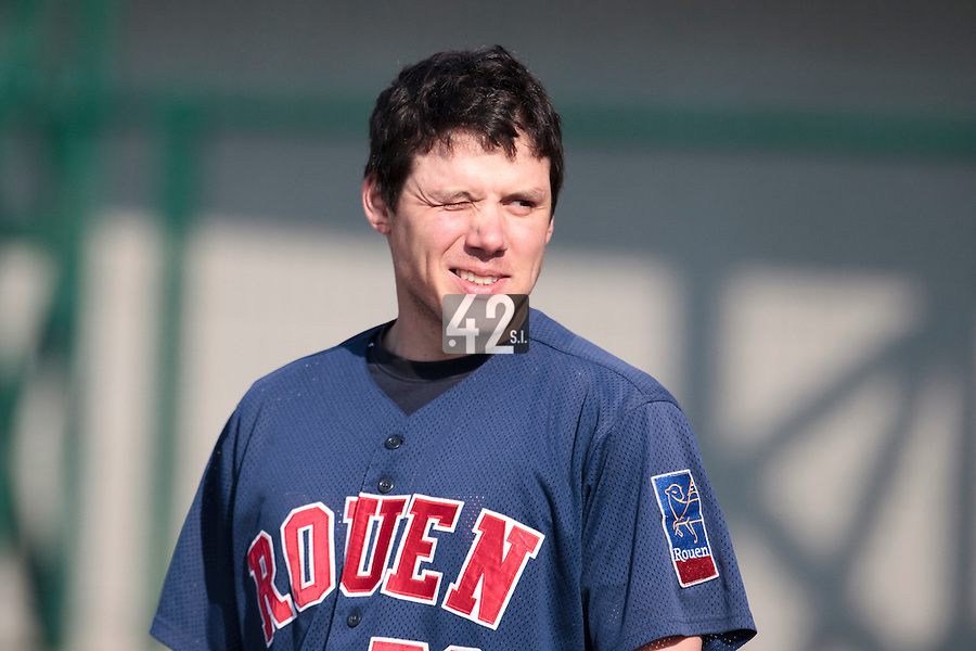 11 April 2010: Boris Marche of Rouen is seen prior to game 1/week 1 of the French Elite season won 5-1 by Rouen over Montigny, at the Cougars Stadium in Montigny le Bretonneux, France.