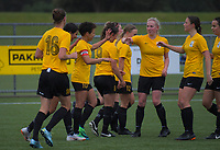 Action from the National Women's League football match between Capital and Southern at Memorial Park in Petone, Wellington, New Zealand on Saturday, 27 October 2018. Photo: Dave Lintott / lintottphoto.co.nz