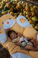 A Baby in the Market outside, Vientiane,Laos,