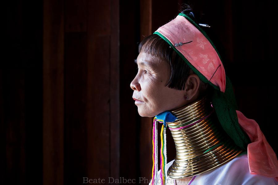 Padaung woman, Inle lake, Myanmar