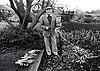 Man gardening, Nottingham UK 1988