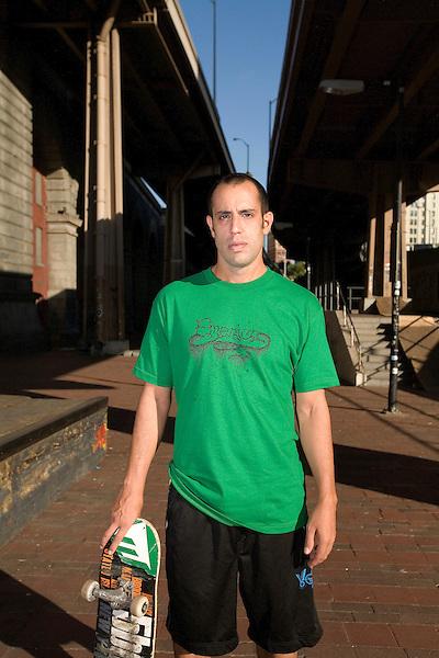 Steven Rodriguez, owner 5Boro Skateboards.<br />