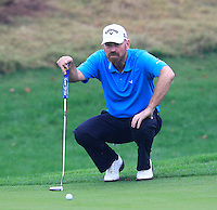 Thomas Bjorn (DEN) on the 1st green during Thursday's Round 1 of the 2014 BMW Masters held at Lake Malaren, Shanghai, China 30th October 2014.<br /> Picture: Eoin Clarke www.golffile.ie
