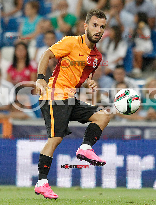 Galatasaray's Emre Colak during XXXVI Santiago Bernabeu Trophy. August 18,2015. (ALTERPHOTOS/Acero)