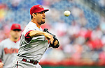 15 August 2010: Arizona Diamondbacks pitcher D.J. Carrasco on the mound against the Washington Nationals at Nationals Park in Washington, DC. The Nationals defeated the Diamondbacks 5-3 to take the rubber match of their 3-game series. Mandatory Credit: Ed Wolfstein Photo