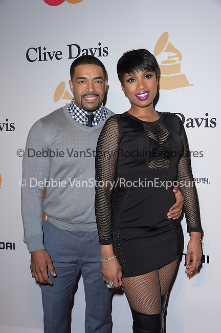Jennifer Hudson and David Otunga attends the 2015 Pre-GRAMMY Gala & GRAMMY Salute to Industry Icons with Clive Davis at the Beverly Hilton  in Beverly Hills, California on February 07,2015                                                                               © 2015 Hollywood Press Agency