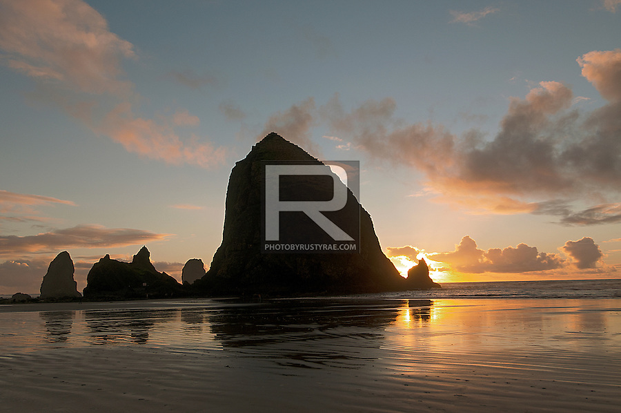Haystack Rock at sunset. What else is there to day?