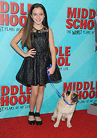 NEW YORK, NY - OCTOBER 01: Alexa Nisenson  attends the New York Screening of Middle School: The Worst Years of My Life at Regal E-Walk on October 1, 2016 in New York City. Photo Credit: John Palmer/MediaPunch